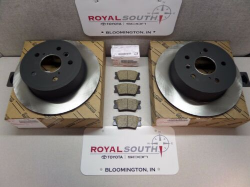 Toyota Camry Avalon Rear Brake Pads /& Rotors Set Kit Genuine OE OEM