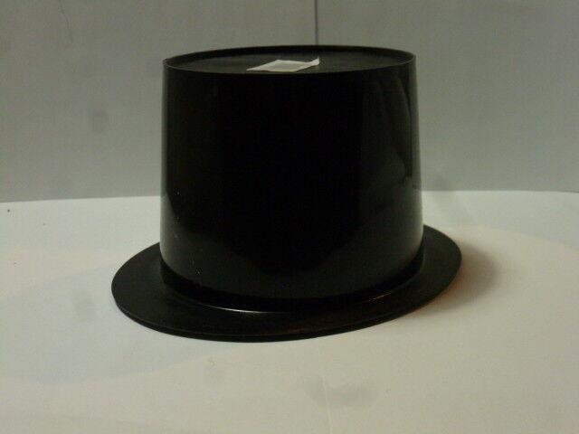 RUB 4125082 Zylinder Satinoptik Satin schwarz ca 12 cm hoch Zubehör Karneval Hut