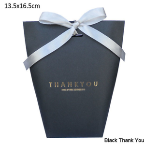 Bronzing Thank You Candy Boxes Paper Favors Presents Bag Wedding Party Favors