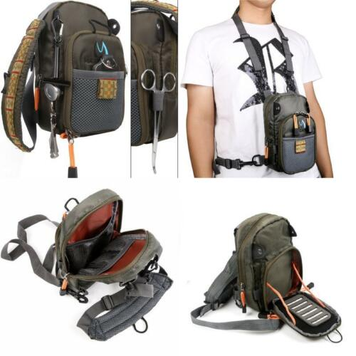 Fanbellfly Fishing Chest Pack Lightweight Chest Bag,Fishing Tackle Bag Crossbody