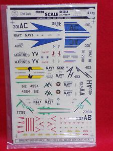 MicroScale-1-72-Scale-Decal-US-Navy-amp-Marines-Skyhawks-A-4B-amp-A-4C