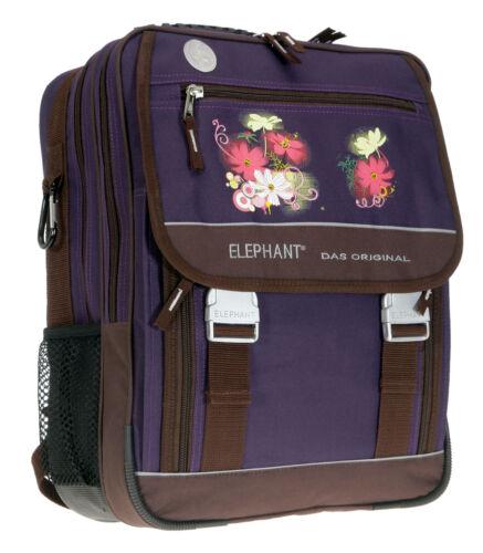 Schulrucksack ELEPHANT SELECT Schultasche Rucksack Schulranzen Lila VIOLETTA