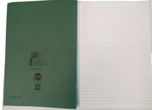 48 Pages 8mm Ruled Lined Dark Green 10 pk of School Exercise Books Rhino A4
