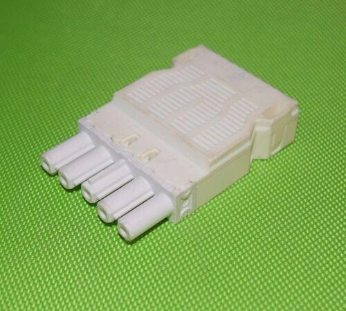 Wieland hembra gst18i5 sistema 5-polos blanco con prensacables gst1815 (473