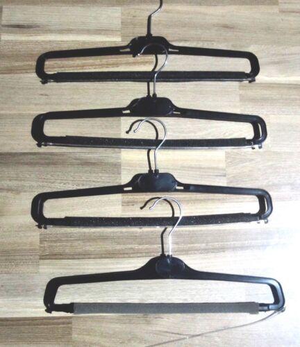 schwarz  Garderobenbügel Wäschebügel Klammerbügel Hosen Kleiderbügel  25 St