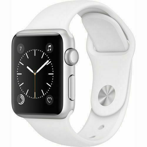 Apple Watch Series 2 38mm Aluminum Case White Sport Band Mnnw2ll A For Sale Online Ebay