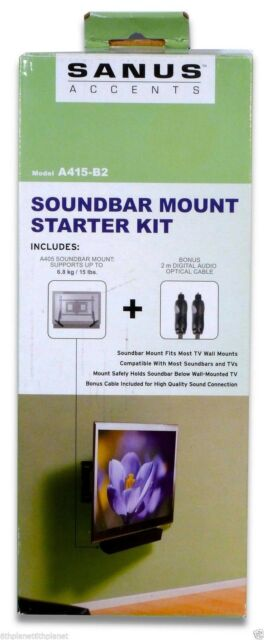 SANUS Accents A405 / A415-B2 Soundbar Kit For Mounting Sound bar under TV  SSB14