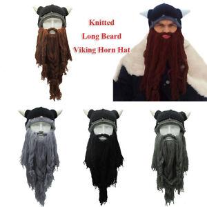 en-l-039-hiver-chaud-viking-corne-chapeau-fou-bonnet-de-ski-longue-barbe-beanie