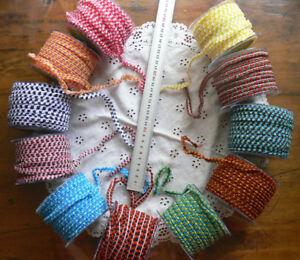Sheer-Multi-Colour-Ribbon-Braid-8mmWide-3Metres-11-Combo-Colour-Choice-ALD10