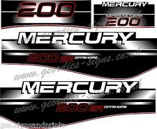 MERCURY 200 EFI OUTBOARD MOTOR STICKERS DECAL KIT ENGINE