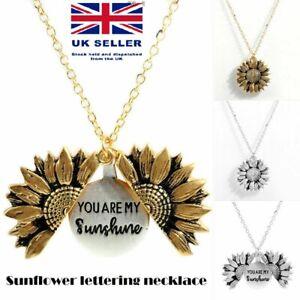 034-You-Are-My-Sunshine-034-Open-Locket-Sunflower-Pendant-Necklace-Women-Fashion