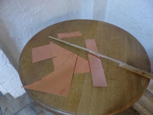 Reste Kupferbleche Kupferreste 0,7-0,8 mm verschieden Reststücke gemischt