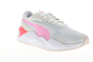 Puma-RS-X3-Plas-Tech-37164001-Womens-Gray-Mesh-Lace-Up-Lifestyle-Sneakers-Shoes