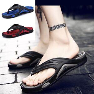 8ea5f2203 New Flip Flops Men Rubber Fashion Non Slip Flat Quality Summer Beach ...