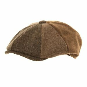 Newsboy Bakerboy Cappello Gatsby Tweed a Spina di Pesce Panettiere ... 3438f5fc11a5