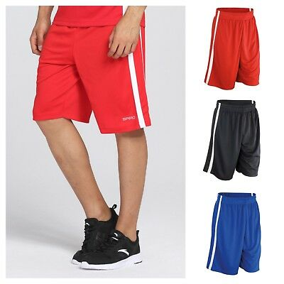 Verantwortlich Spiro - Basketball Shorts - Mens - Quick Drying + Breathable - Blue/black/red