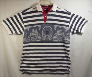 fbd2c2c91 Tommy Hilfiger Men's Short Sleeve Polo Boat Sailing Graphic Nautical ...
