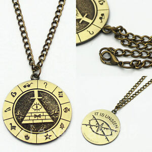 Anime Gravity Falls Bill Cipher Boss Choker Necklace Pendant Fans Collect Gift