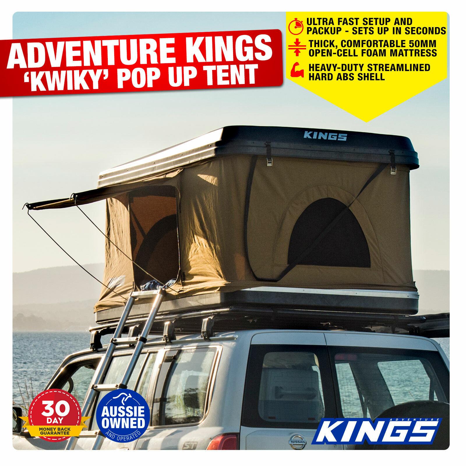 Adventure Kings Roof Top Tent adventure kings kwiky hard shell rooftop tent - akta-kwiky_rtt