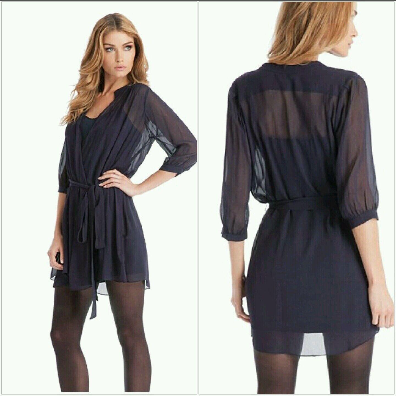 NWT GUESS by Marciano Brenna Solid Wrap Dress Größe XS