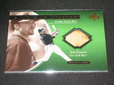 MIKE HAMPTON METS LEGEND 2001 UD OVATION CERTIFIED AUTHENTIC GAME USED BAT CARD