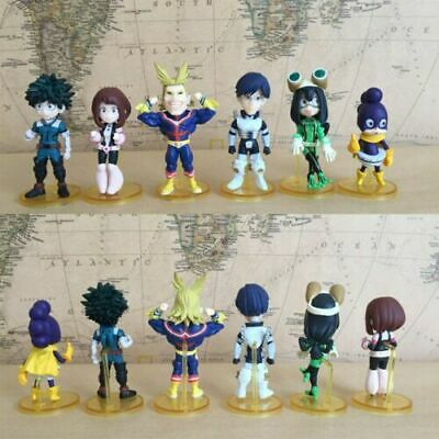 6pcs//Set Anime Q Version My Hero Academia PVC Figure New No Box