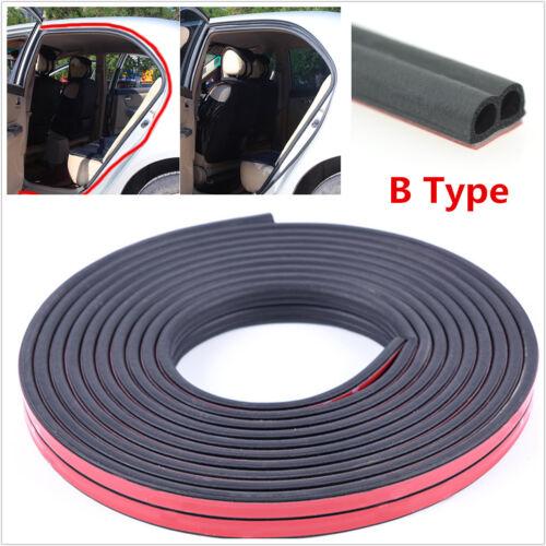 5M B-Type Car Door Edge Trim Mouldings Rubber Seal Strip Anti-Dust Weatherstrip