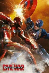 Captain-America-Civil-War-Fight-Maxi-Poster-61cm-x-91-5cm-new-and-sealed