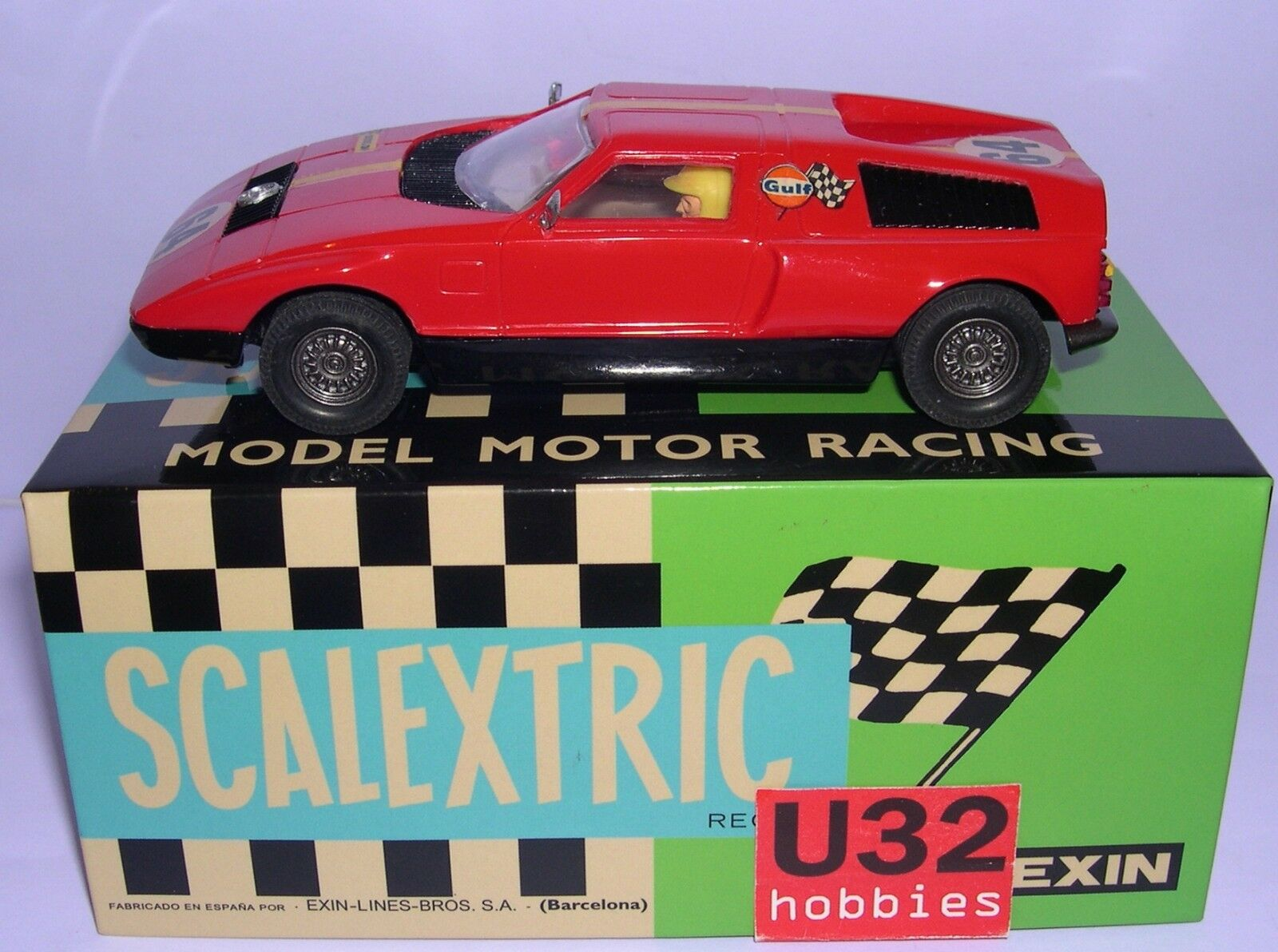 SCALEXTRIC EXIN C-44 C-44 C-44 MERCEDES WANKEL  64 ROT KAROSSERIE HARZ LTED.ED.5UNID 01cc80