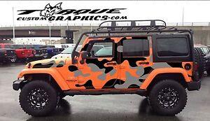 cde37028 Urban Camo-4 Door-Vinyl Decal Set for Jeep Wrangler , Vehicles ...