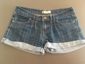 edb3edeb8c Ladies COTTON ON Denim Shorts Size 10 Dark Blue Short Roll Up | eBay