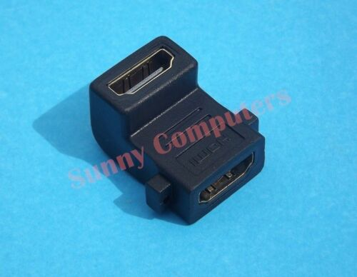 2x HDMI Cable Joiner Adapter Upward Facing M//M L Shape Connector v1.4 Compatible