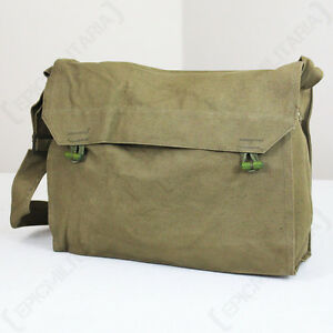 Image Is Loading Original Czech Gas Mask Sidepack Surplus Olive Canvas