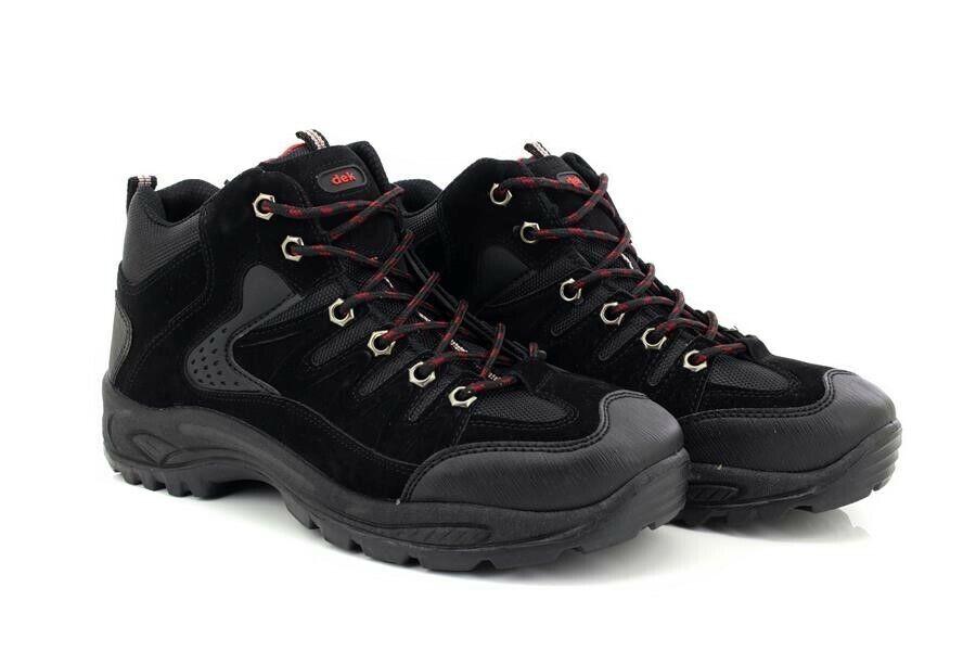 Dek Ontario M962 6 Eyelet Mid Trek And Trail Trainer Boots Black Synth.Nubuck/Te