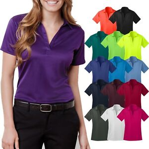 Ladies-Plus-Size-SNAG-RESISTANT-Dri-Fit-Wicking-Polo-Shirt-Womens-2XL-3XL-4XL
