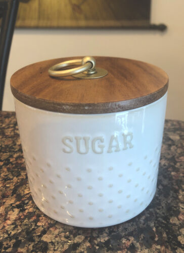 Hobnail Sugar Bowl Better Homes /& Gardens Modern Farmhouse 11 Oz Canister