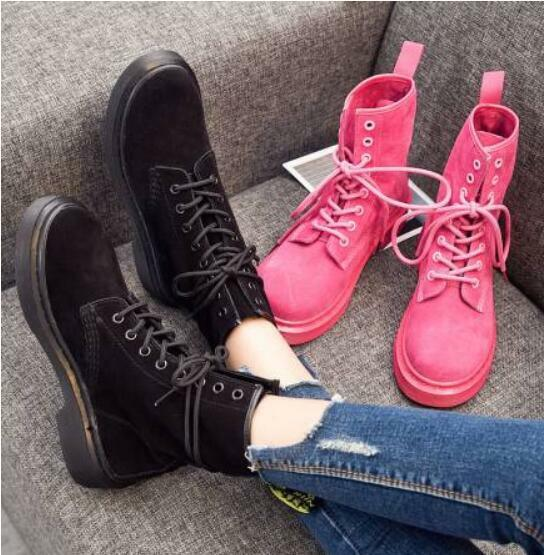 Womens Suede Mid Calf Boots Lace Up Combat Vintage Uk 2.5-7 Flat Heel shoes