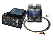 12v Dc 132din Pid Temperature Controller White 25a Ssr K Thermocouple