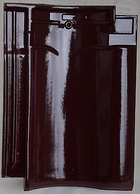 Dachziegel Dachpfanne Hohlfalzziegel Kdn-monier Vh Weinrot Glänzend Glasiert Fürs Dach Mit Falz