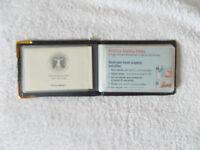 Brown Travel Wallet Credit Card Debit Card Cash Business Card Holder
