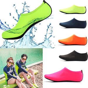 Unisex-Barefoot-Water-Skin-Shoes-Aqua-Socks-for-Yoga-Beach-Swim-Surf-Exercise-UK