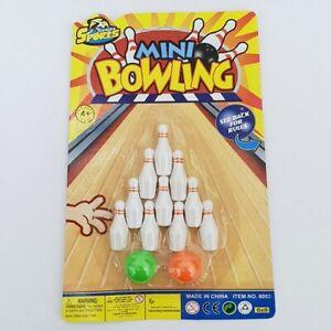 Mini-Tabletop-Ten-Pin-Bowling-Desktop-Skittles-Kids-Children-039-s-Stocking-Filler