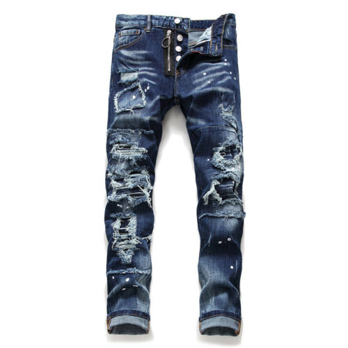 New Dsquared2 Jeans Men/'s Slim Fit DSQ2 Washed Denim CANADA Brothers 2/%Elastane