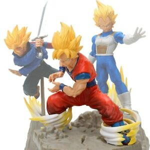 DRAGON-BALL-Z-Son-Goku-Vegeta-Trunks-Figuras-Super-Saiyan-tamano-15-25-cm