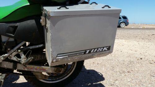 Tusk Aluminum Panniers with Pannier Racks Large Silver Kawasaki KLR650 2008-2018