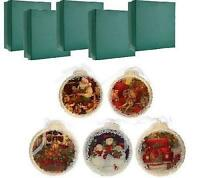 Niob Set Of 5 Illuminated Ornaments With Gift Boxes By Valerie. Traditional A