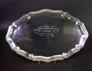 Silber 800 Tablett - REITER EHRENPREIS STEEPLECHASE FRAUENFELD Thurgau/Schweiz
