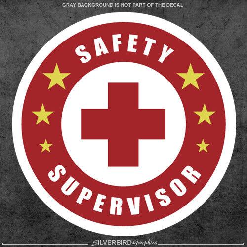 3x Safety Supervisor sticker helmet label hard hat labor iron worker industry
