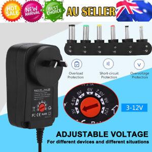Multi Speed Control Voltage Power Supply Adapter 30W AC DC 3V-12V Adjustable
