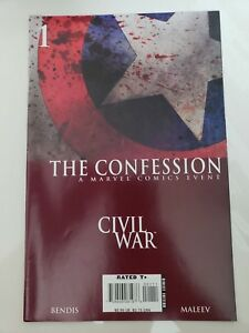 CIVIL-WAR-THE-CONFESSION-1-2007-MARVEL-COMICS-CAPTAIN-AMERICA-ALEX-MALEEV-ART